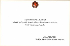 TBMM takdir belgesi
