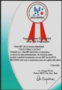 brt2010 ödül